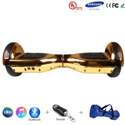 Gooscooter 6,5 collu Chrome Bluetooth LED Hoverboard pašbalansējošs motorolleris