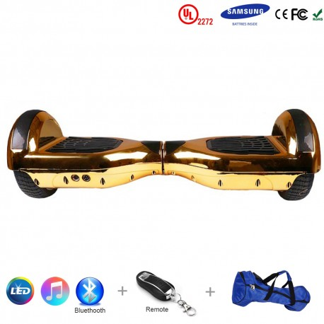 Gooscooter 6.5 pouces Chrome Scooter auto-équilibrant Bluetooth LED Hoverboard