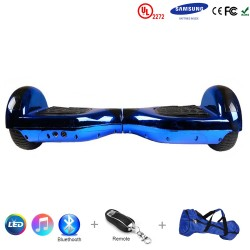 Gooscooter 6.5-Zoll Chrome Bluetooth LED Hoverboard selbstausgleichender Roller