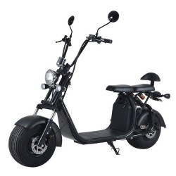 Harley Electric Scooter 1000W 12AH Big Wheel Motorcykel Aftageligt Batteri Electric Scooter