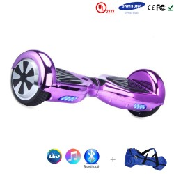 Gooscooter 6,5-palčni Chrome Bluetooth LED Hoverboard Self Balancing Scooter
